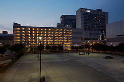 Stock photo of the Hilton Hotel and George R. Brown Convention Center in Houston, Texas