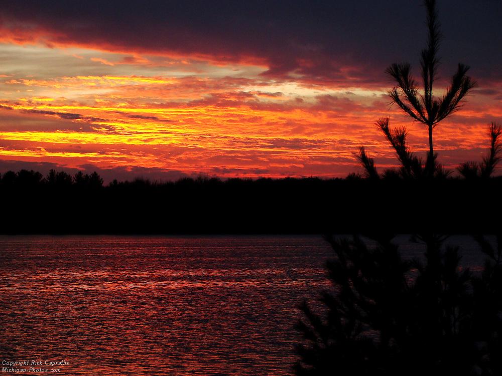 Sunset on Manistee Lake