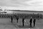 President John F. Kennedy arrives at Dublin Airport. Kennedy replies to President Eamon de Valera's address of welcome on his arrival at Dublin Airport..26.06.1963