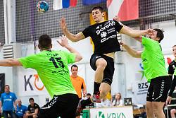 Ales Kavcic of RK Gorenje Velenje during handball match between RK Gorenje Velenje and MRK Krka in Final of Slovenian Men Handball Cup 2018/19, on Maj 12, 2019 in Novo Mesto, Slovenia. Photo by Grega Valancic / Sportida