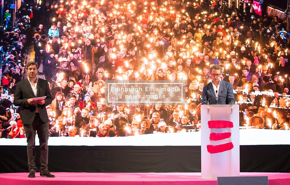 Launch of Edinburgh's Hogmanay programme 18 July 2017; Ed Bartlam, Co-Founder and Director of Underbelly and Charlie Wood, Owner, Underbelly, help launch the programme for Edinburgh's Hogmanay festivities at Mansfield Traquair Centre, Edinburgh.<br /> <br /> (c) Chris McCluskie | Edinburgh Elite media