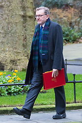 Downing Street, London, February 21st 2017. Scotland Secretary David Mundell attends the weekly cabinet meeting at 10 Downing Street in London.