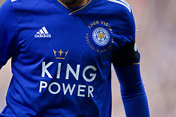 LEICESTER, ENGLAND - Saturday, November 10, 2018: Leicester City's Rachid Ghezzal wearing a special shirt paying tribute to the club's chairman Vichai Srivaddhanaprabha, who died in a helicopter crash on Oct 27, before the FA Premier League match between Leicester City FC and Burnley FC at the King Power Stadium. (Pic by David Rawcliffe/Propaganda)