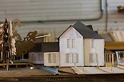 Model of the White-Morrisette house.