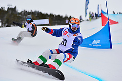 World Cup SBX, CAVICCHI Roberto, ITA, HAMOU Jonathan, FRA at the 2016 IPC Snowboard Europa Cup Finals and World Cup