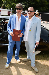 Left to right, MARC NEWSON and SIR JONATHAN IVE at the Cartier 'Style et Luxe' part of the Goodwood Festival of Speed, Goodwood House, West Sussex on 14th July 2013.