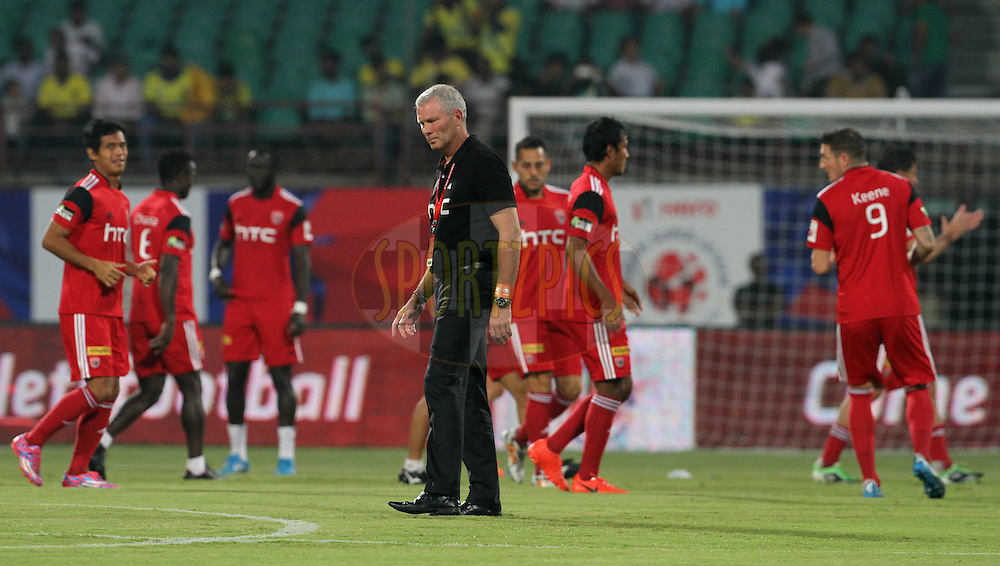 NorthEast United FC coach Ricki Herbert during match 49 of the Hero Indian Super League between Kerala Blasters FC and North East United FC held at the Jawaharlal Nehru Stadium, Kochi, India on the 4th December 2014.<br /> <br /> Photo by:  Vipin Pawar/ ISL/ SPORTZPICS