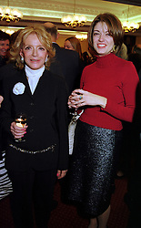 Left to right, LADY WYATT and the HON.PETRONELLA WYATT, at a reception in London on 17th November 1999.MZF 44
