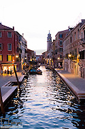 Small canal at dawn, Venice, Venetia, Italy