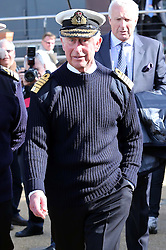 Prince of Wales leaving  the Mary Rose Museum in Portsmouth, United Kingdom, Wednesday, 26th February 2014. Picture by Stephen Lock / i-Images