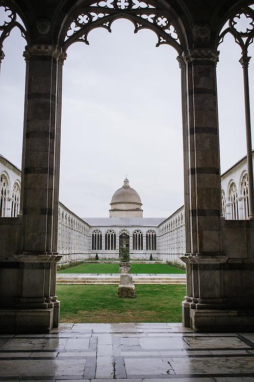 Campo Santo cemetery in the Piazza dei Duomo in Pisa, Italy