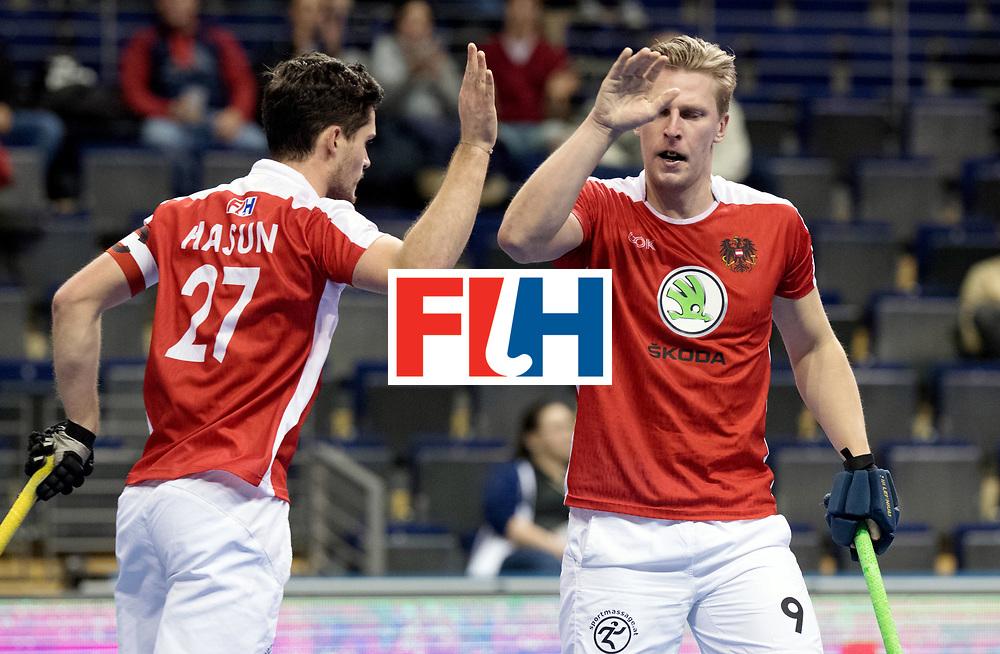 BERLIN - Indoor Hockey World Cup<br /> Men: Austria - South Africa<br /> foto: Xaver Hasun and Michael K&ouml;rper.<br /> WORLDSPORTPICS COPYRIGHT FRANK UIJLENBROEK