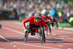 ZHOU Hongzhuan, CHN, 400m, T53, 2013 IPC Athletics World Championships, Lyon, France