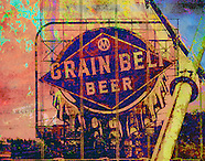 Grain Belt Sign and Bridge