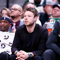 01 April 2018: Milwaukee Bucks guard Matthew Dellavedova (8) is seen on the bench during the Denver Nuggets 128-125 victory over the Milwaukee Bucks, at the Pepsi Center, Denver, Colorado, USA.