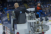 KELOWNA, CANADA - JANUARY 10:  Orchard Park Zamboni Rider at the Kelowna Rockets game on January 10, 2018 at Prospera Place in Kelowna, British Columbia, Canada.  (Photo By Cindy Rogers/Nyasa Photography,  *** Local Caption ***