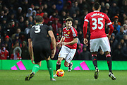 Matteo Darmian of Manchester United during the Barclays Premier League match between Manchester United and Stoke City at Old Trafford, Manchester, England on 2 February 2016. Photo by Phil Duncan.