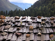 Roof support in Yubeng, Yunnan, China; September, 2013.