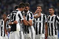 27.09.2017 - Torino - Champions League   -  Juventus-Olympiakos nella  foto: l'esultanza dei iocatori della Juventus dopo il gol del 2  a 0