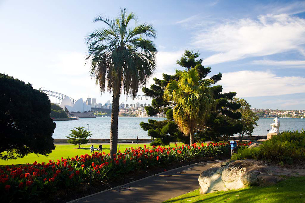 """The Royal Botanic Gardens in Sydney, Australia, are the largest of three major botanical gardens open to the public in Sydney and are free to access and open every day of the year. The """"Boy with Thorn"""" statue in the gardens."""