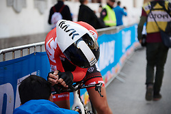 Martina Ritter (AUT) recovers after the UCI Road World Championships 2018 - Elite Women's ITT, a 27.7 km individual time trial in Innsbruck, Austria on September 25, 2018. Photo by Sean Robinson/velofocus.com