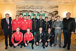Team Poland and team Slovenia during Official Draw of Davis Cup 2018 tournament between National teams of Slovenia and Poland, on February 2, 2018 in Mestna hisa - Mariborski Rotovz, Maribor, Slovenia. Photo by Rene Gomolj / Sportida