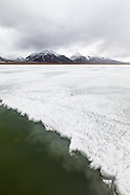 frozen lake Svalbard III