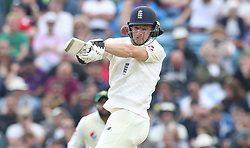 England's Jos Buttler is hit on the helmet from the bowling of Pakistan's Hasan Ali during day two of the Second Natwest Test match at Headingley, Leeds.
