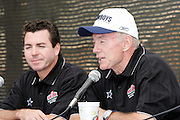 "(L-R) ""Papa"" John Schnatter founder, chairman, and CEO of Papa Johns and Dallas Cowboys owner Jerry Jones host a press conference to announce that the Dallas Cowboys and Papa John's pizza chain announce a new relationship during a post practice press conference at the Cowboys training camp in Oxnard, CA on 08/03/2004. ©Paul Anthony Spinelli"