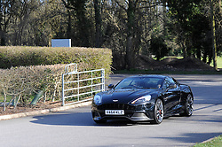 Connor arrives to the Bristol City training ground in an Aston Martin from HR Owen  - Photo mandatory by-line: Dougie Allward/JMP - Mobile: 07966 386802 - 01/04/2015 - SPORT - Football - Bristol - Bristol City Training Ground - HR Owen and SAM FM - Live like a footballer for a day