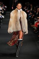 Malaika Firth (New York Models) walks the runway wearing Altuzarra Fall 2015 during Mercedes-Benz Fashion Week in New York on February 14, 2015