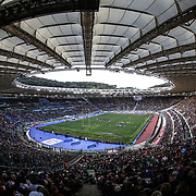Rome 04/02/2018 Stadio Olimpico<br /> Natwest 6 nations 2018<br /> England v Italy<br /> panoramica dello stadio Olimpico