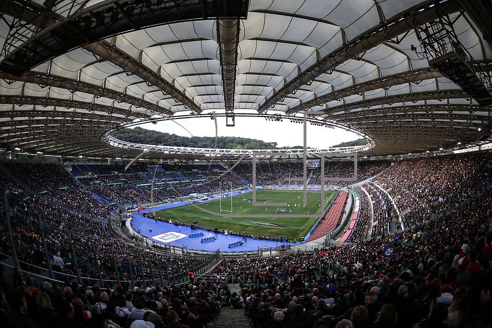 Rome 04/02/2018 Stadio Olimpico<br /> Natwest 6 nations 2018<br /> England v Italy<br /> panoramica dello stadio Olimpico
