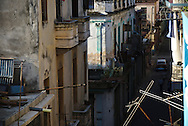 The activity in the streets of la Habana Vieja early in the morning