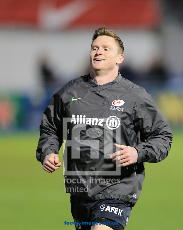 Chris Ashton of Saracens before the European Rugby Champions Cup match at Allianz Park, London<br /> Picture by Michael Whitefoot/Focus Images Ltd 07969 898192<br /> 13Duncan Taylor of Saracens2014