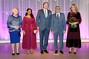 De Kaapverdische president Jorge Carlos de Almeida Fonseca is in Nederland voor een tweedaags staatsbezoek.<br /> <br /> The Cape Verdean president Jorge Carlos de Almeida Fonseca is in the Netherlands for a two-day state visit.<br /> <br /> Op de foto On the photo:  Koning Willem-Alexander , koningin Maxima en prinses Beatrix ontmoeten de Kaapverdische president Jorge Carlos de Almeida Fonseca en diens echtgenote bij de Cruisterminal voor een concert.<br /> <br /> King Willem-Alexander, Queen Maxima and Princess Beatrix meet the Cape Verdean President Jorge Carlos de Almeida Fonseca and his wife at the Cruise Terminal for a concert.
