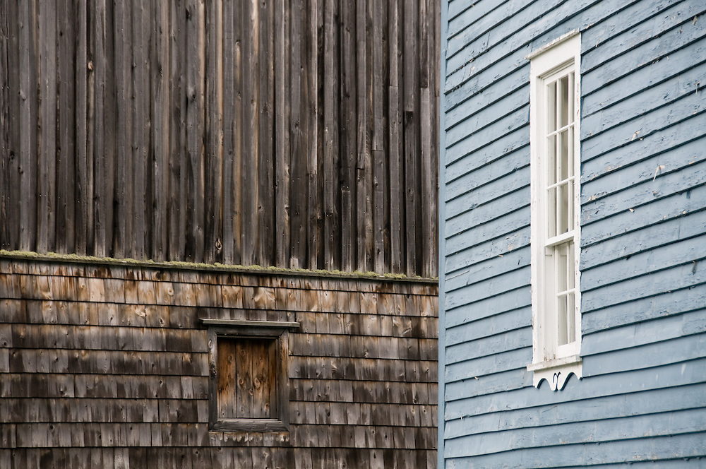 Weathered buildings