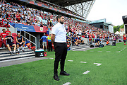 (Caption correction) Bristol City manager Lee Johnson in the technical area before the EFL Sky Bet Championship match between Bristol City and Nottingham Forest at Ashton Gate, Bristol, England on 4 August 2018. Picture by Graham Hunt.
