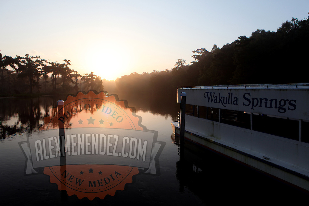 Wakulla Springs boat and sunrise along the Big Bend Scenic Highway in the Apalachicola National Forest in Florida. (AP Photo/Alex Menendez) Florida scenic highway photos from the State of Florida. Florida scenic images of the Sunshine State.