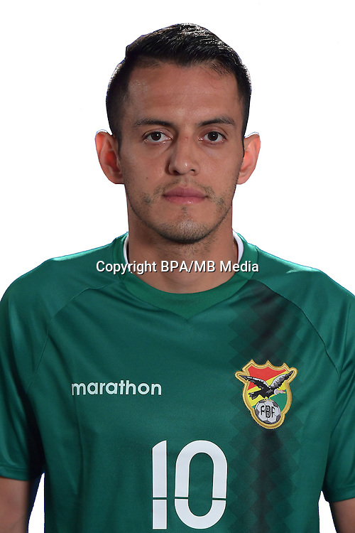 Football Conmebol_Concacaf - <br />Copa America Centenario Usa 2016 - <br />Bolivia National Team - Group D - <br />Jhasmani Campos Davalos