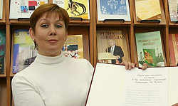 June 5, 2017 - Russia - June 5, 2017. - Russia, Moscow. - The Meshchansky District Court found ex-director of the Moscow library of Ukrainian literature Natalia Sharina guilty of inciting ethnic hatred and embezzling entrusted property valued at around 2.2 million rubles ($38,800) and gave her a 4-year suspended sentence. Sharina has pleaded not guilty. In picture: Natalia Sharina. Photo: vkurse.ua (Credit Image: © Russian Look via ZUMA Wire)