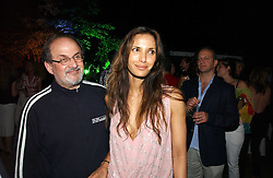 SALMAN RUSHDIE and PADMA LAKSHMI  at the Quintessentially Summer Party held at Debenham House, 8 Addison Road, London W14 on 15th June 2006.<br /><br />NON EXCLUSIVE - WORLD RIGHTS