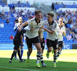 Matt Smith of Fulham celebrates scoring against Cardiff City - Mandatory by-line: Paul Knight/JMP - Mobile: 07966 386802 - 08/08/2015 -  FOOTBALL - Cardiff City Stadium - Cardiff, Wales -  Cardiff City v Fulham - Sky Bet Championship