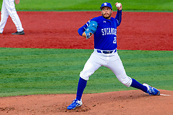 NORMAL, IL - May 01: Triston Polley during a college baseball game between the ISU Redbirds and the Indiana State Sycamores on May 01 2019 at Duffy Bass Field in Normal, IL. (Photo by Alan Look)