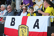 Brewers fans during the EFL Sky Bet League 1 match between Burton Albion and Coventry City at the Pirelli Stadium, Burton upon Trent, England on 14 September 2019.
