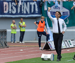May 6, 2018 - Rome, Lazio, Italy - Simone Inzaghi during the Italian Serie A football match between S.S. Lazio and Atalanta at the Olympic Stadium in Rome, on may 06, 2018. (Credit Image: © Silvia Lore/NurPhoto via ZUMA Press)