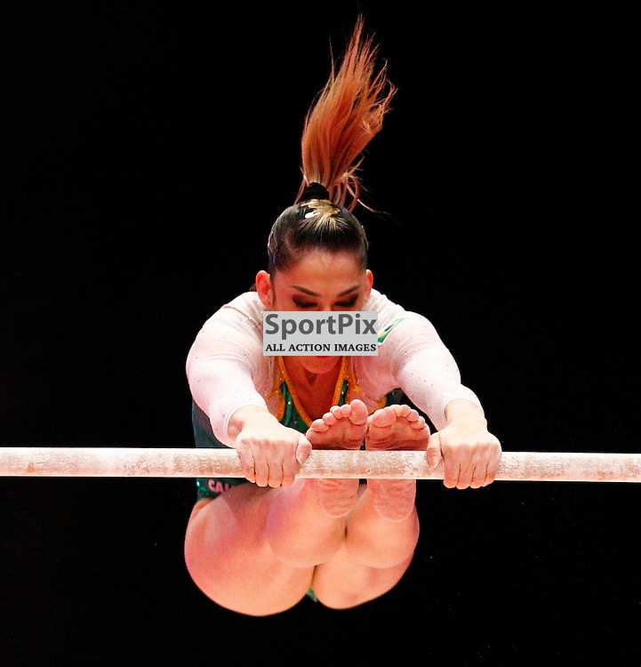 2015 Artistic Gymnastics World Championships being held in Glasgow from 23rd October to 1st November 2015...Daniele Hypolito (Brazil) competing in the Uneven Bars competition...(c) STEPHEN LAWSON | SportPix.org.uk