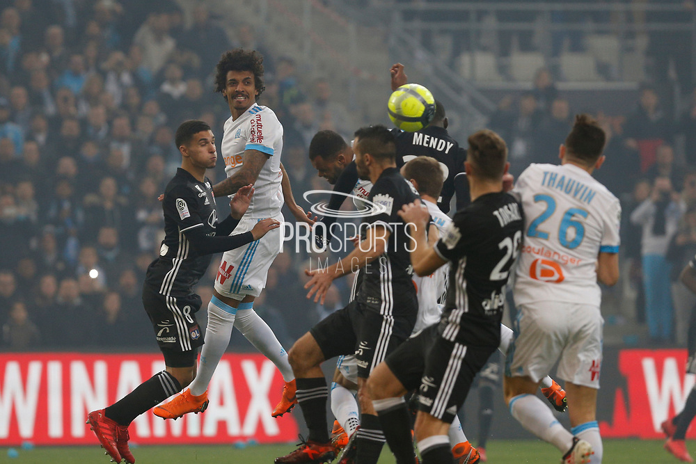 Luiz Gustavo of Olympique de Marseille during the French Championship Ligue 1 football match between Olympique de Marseille and Olympique Lyonnais on march 18, 2018 at Orange Velodrome stadium in Marseille, France - Photo Philippe Laurenson / ProSportsImages / DPPI
