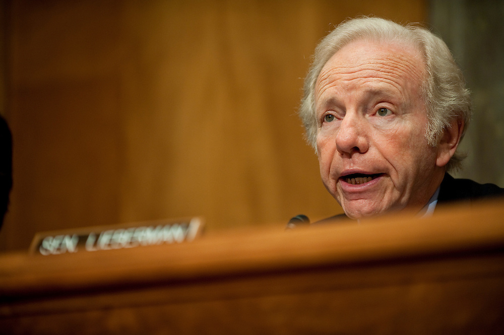 May 17,2010 - Washington, District of Columbia USA - Senator Joe Lieberman, Chairman of the Senate Committee on Homeland Security and Government Affairs makes his opening statements before hearing testimony from Secretary of Homeland Security, Janet Napoitano and Rear Admiral Peter Neffenger about the response to the Deepwater Horizon Oil spill.(Credit Image: © Pete Marovich/ZUMA Press)