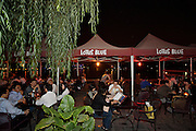 Huhai and Qianhai Lake nightlife district. Lakeside open air tables at Lotus Blue.